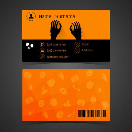 visitekaartje: Visitekaartje. Het concept van Halloween Stock Illustratie