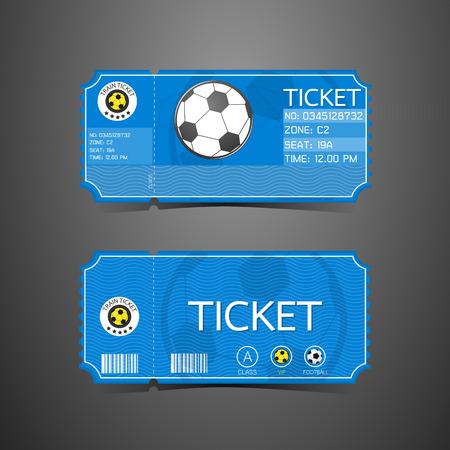サッカー チケット カード レトロなデザイン  イラスト・ベクター素材