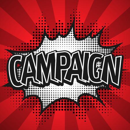 zonk: Comic Speech Bubble. Campaign Vector illustration