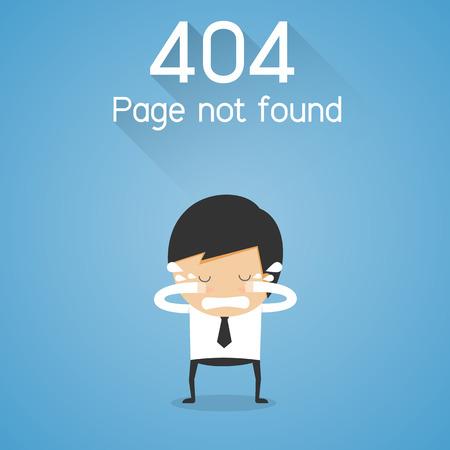 404 エラーページが見つかりません。ビジネスマンの叫びコンセプト