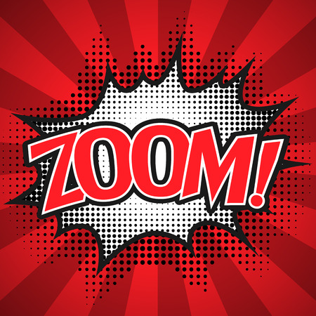Comic Speech  Bubble. zoom Vector illustration