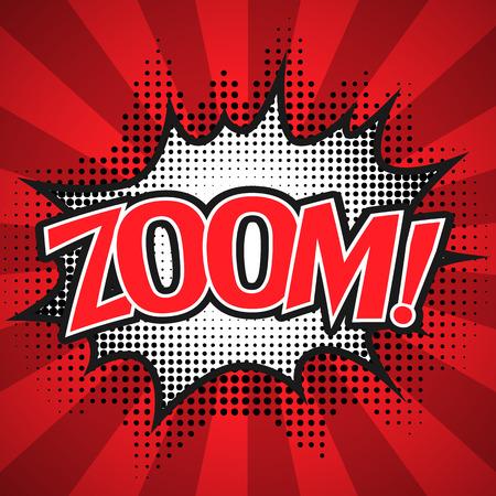 zonk: Comic Speech  Bubble. zoom Vector illustration