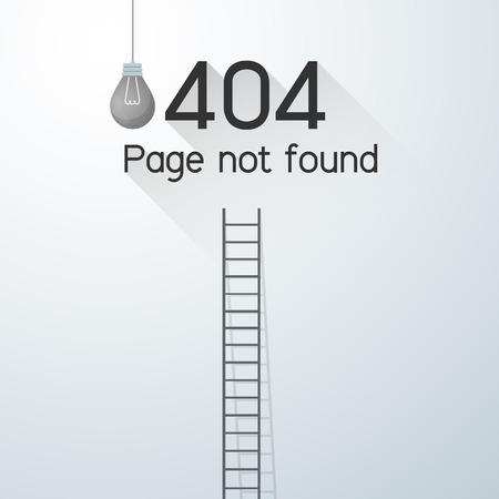 ページには、エラー 404 が見つかりません。電源停止の概念  イラスト・ベクター素材