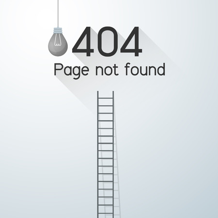 Page not found Error 404. power outage concept