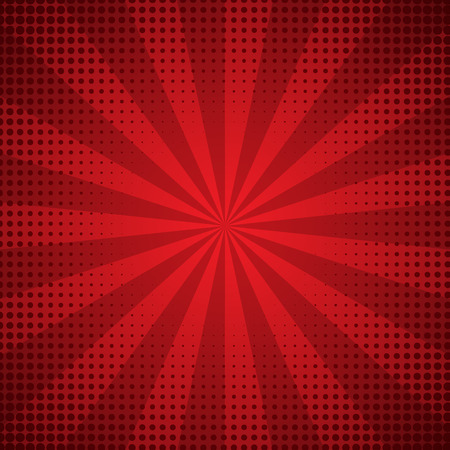 Sunburst abstract red background