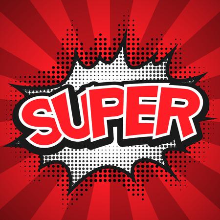 comic graphic: Comic Speech Bubble. Super Vector illustration