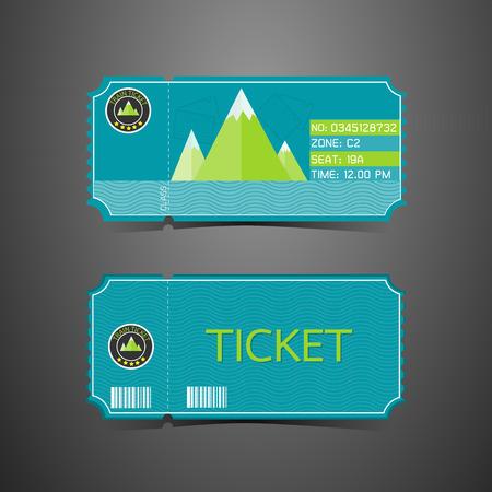 mount price: Ticket Mountain Park Retro Design Template