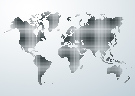 World map of square concept. Vectores