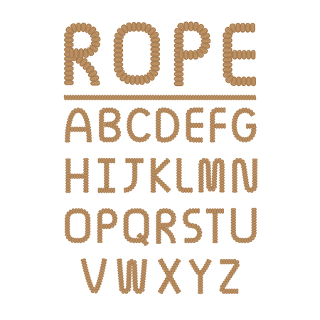 braided flexible: Rope font design