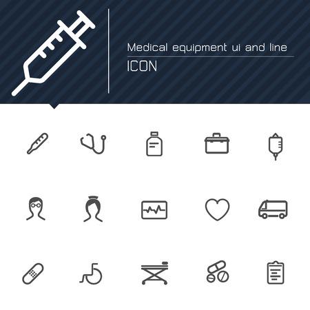 medical equipment: Medical equipment line icon Illustration