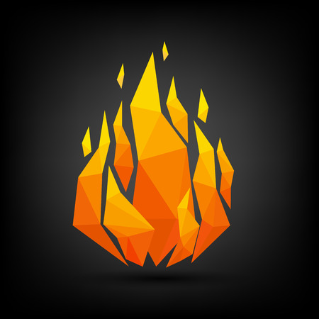 fire flame: Abstract flame triangle geometric design.