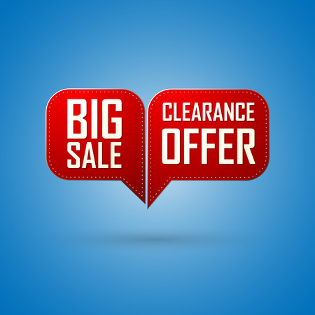 sale icon: Red bubble Sale offer and big sale design Illustration
