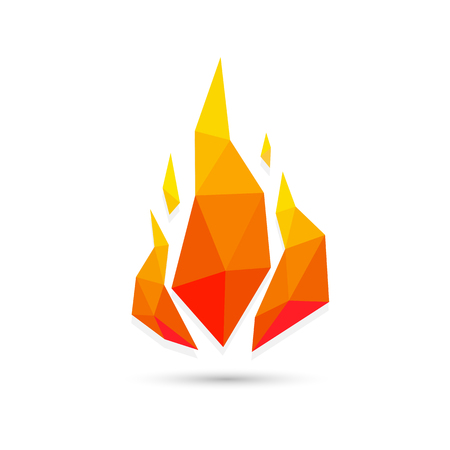 Abstract fire triangle geometric design