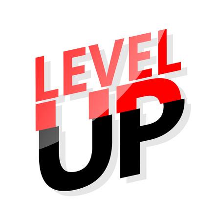 half  cut: Level up. Half cut design Illustration