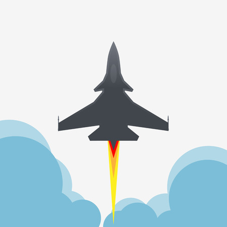 supersonic: Jet fighter aircraft flying up