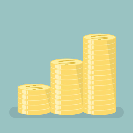 contributions: Gold coins with stepped sort