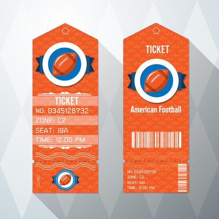biglietto: disegno di football americano Card Ticket