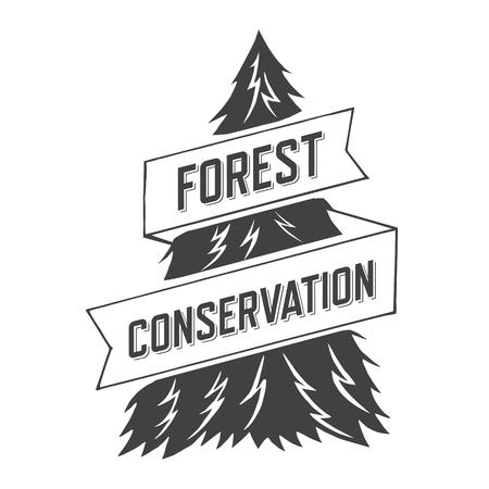 forest conservation: forest conservation. ribbon design