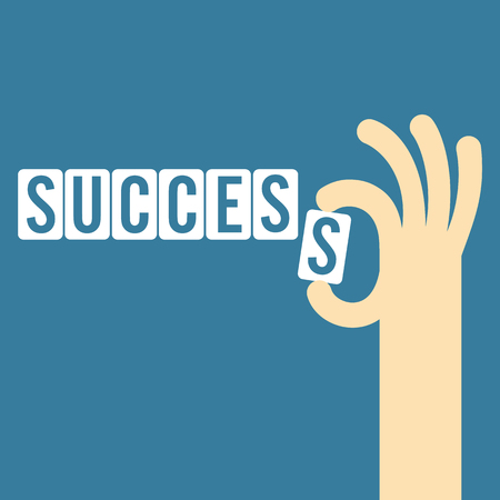 final: success concept with the final piece jigsaw