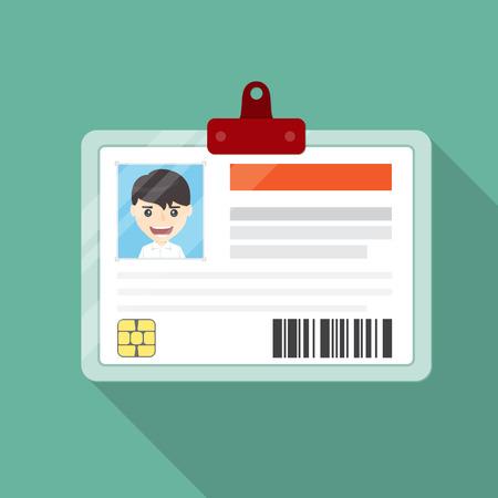 identification: Identification card flat desing.