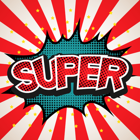 superhero: Super speech bubble background. Illustration