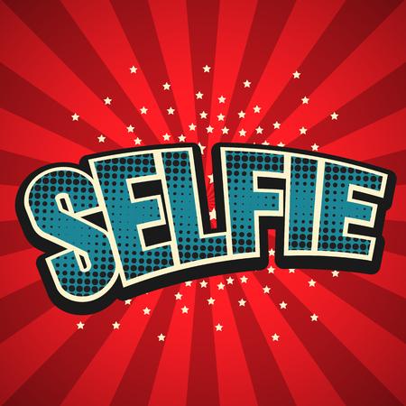 interjection: Selfie speech bubble background. Illustration