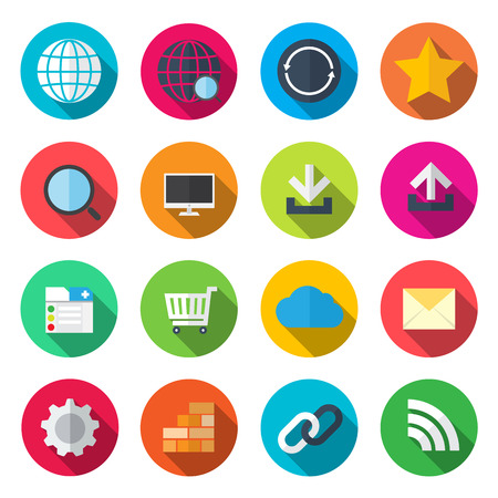 contact info: internet flat icons Illustration