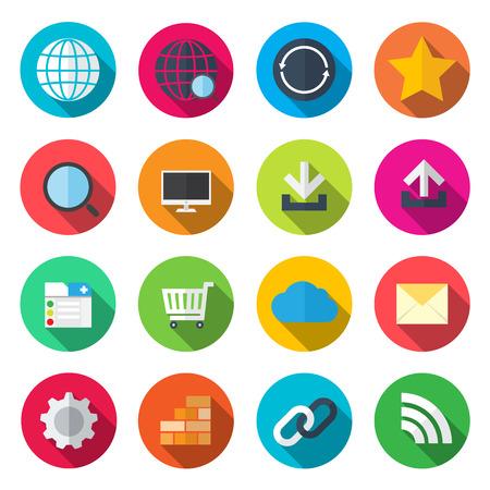 contact: internet flat icons Illustration