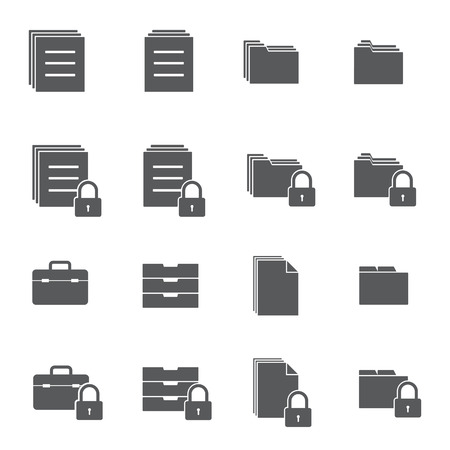 office documents: Document lock icons