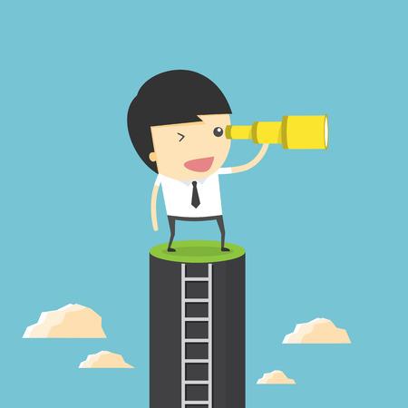 Businessman vision Illustration