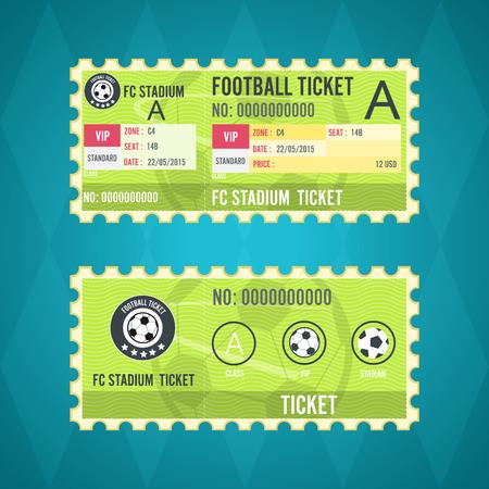 ticket stubs: Football ticket card green design
