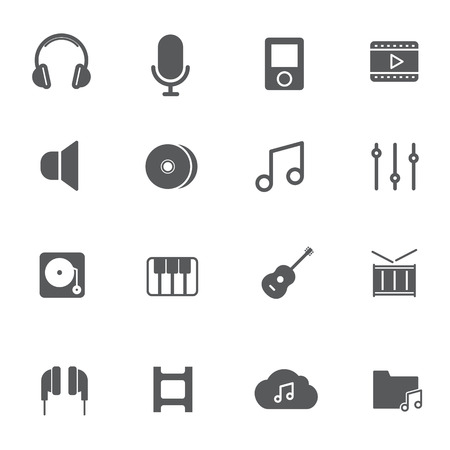 Music Icons.  Vectores