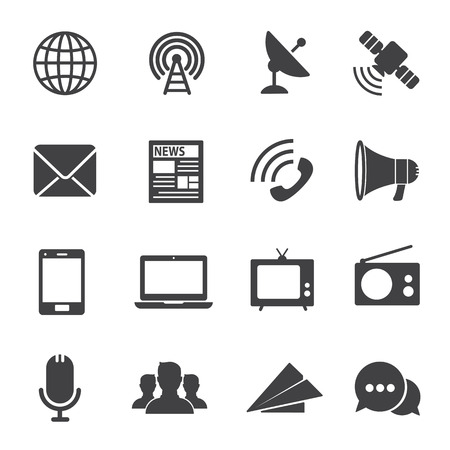 communication icons: Communication icons Illustration