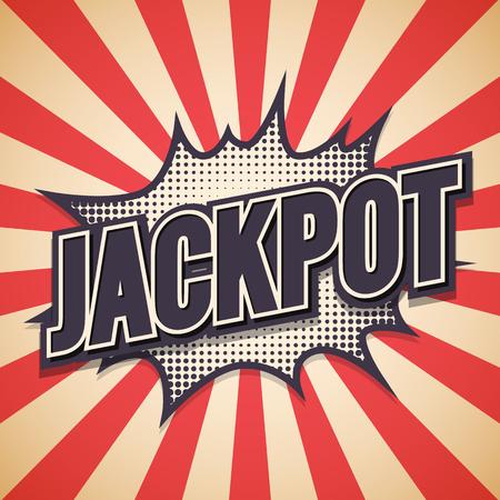 Jackpot Graffiti. Comic Speech Bubble.  Illustration