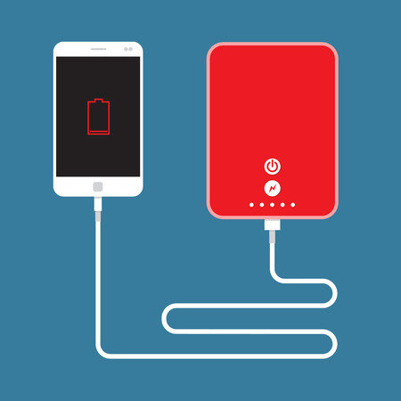 Smartphone charging connect to Power Bank