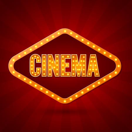 Cinema. Banner Lighting. Vector illustration