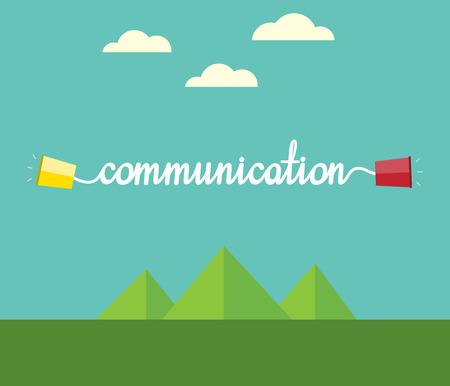 string together: Communication concept Illustration