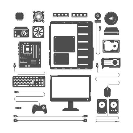 computer hardware: Computer hardware parts