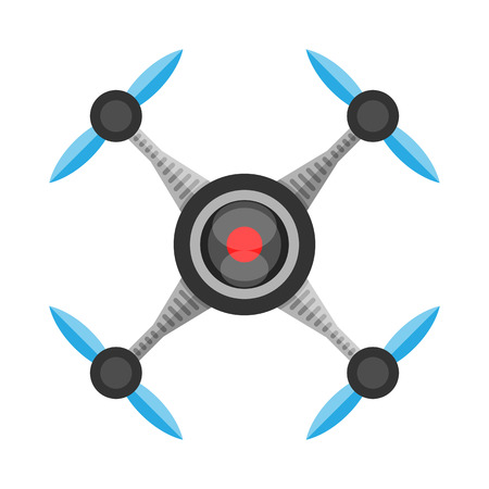 on air: Drone Camera, Quadrocopter technology Illustration