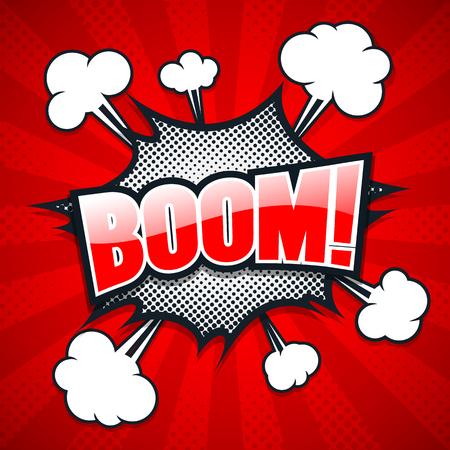 zonk: Comic Speech Bubble, Boom, Vector illustration