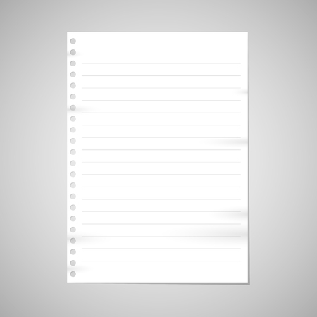 note book: Note paper with line