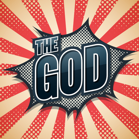 laugh out loud: The God, Speech Poster, Vector illustration
