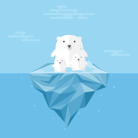 Polar Bear with Global Warming..