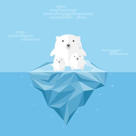 Polar Bear with Global Warming..