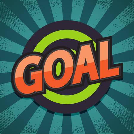 Goal. Comic Speech Bubble. Vector illustration. Çizim