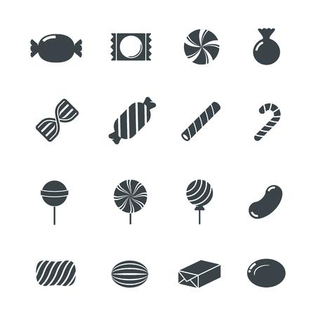bonbons: Süßigkeit Icons. Illustration