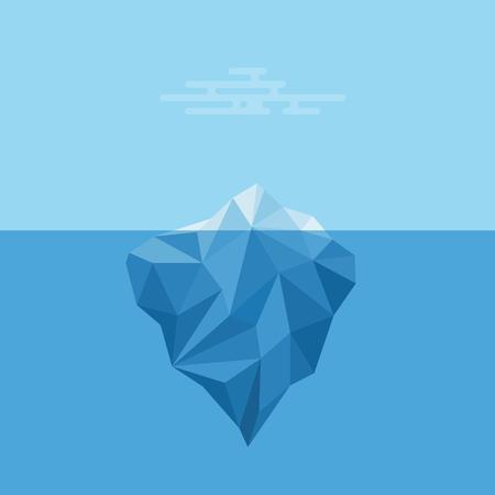 빙산. 일러스트