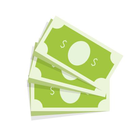 abundance: Dollar Money Banknote. Illustration