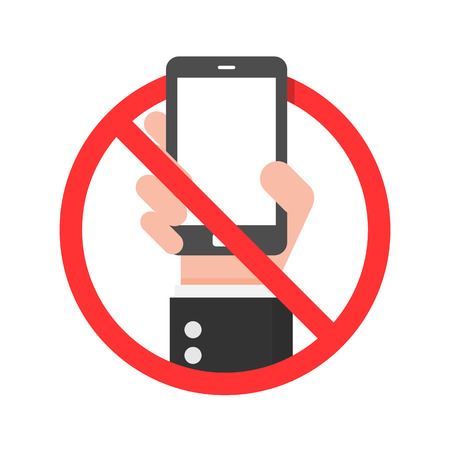 cell phones not allowed: Do Not Use Mobile Phone Sign. Illustration