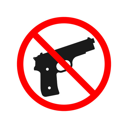 weapons: No Guns or Weapons Sign.